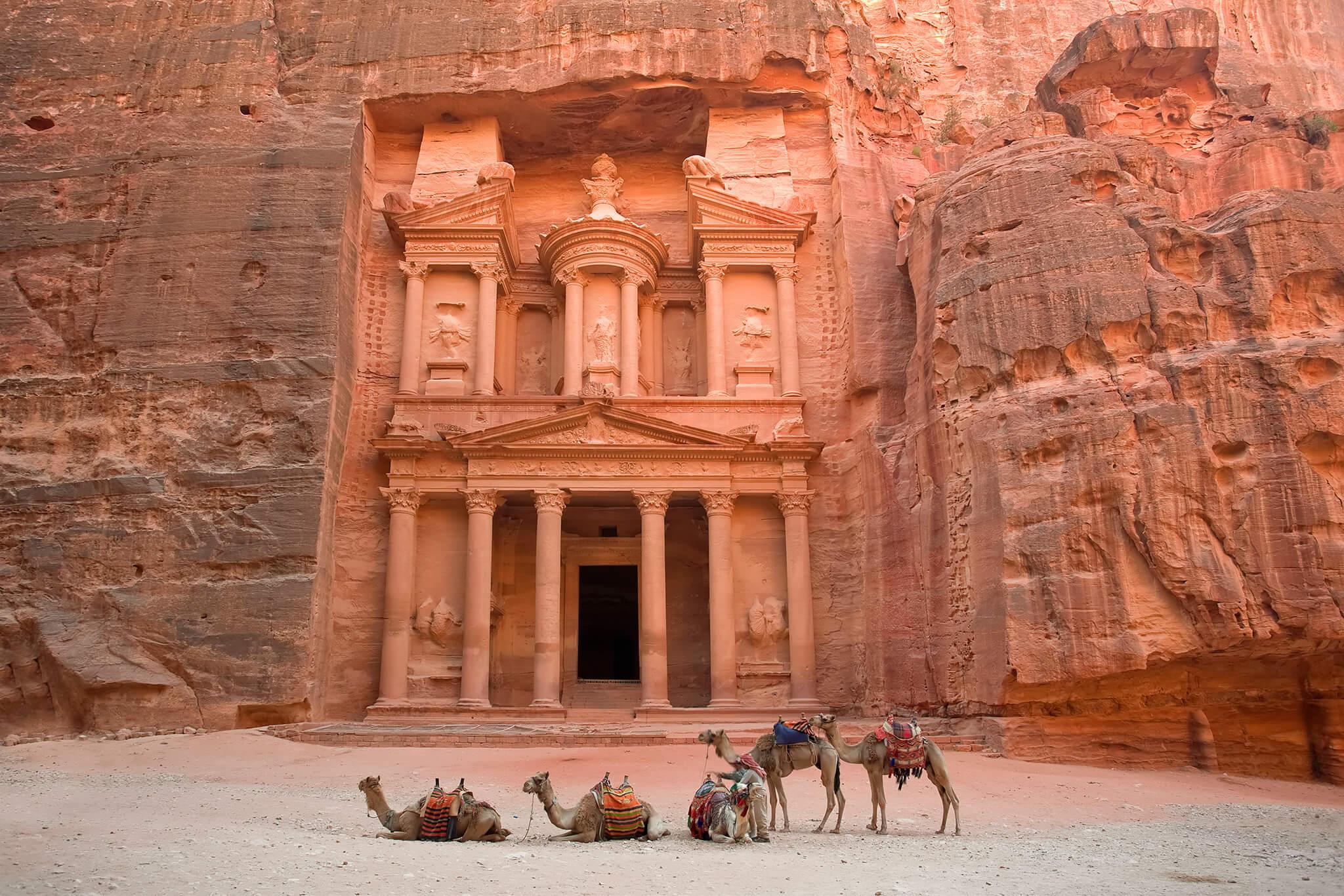 The famous Petra Treasury