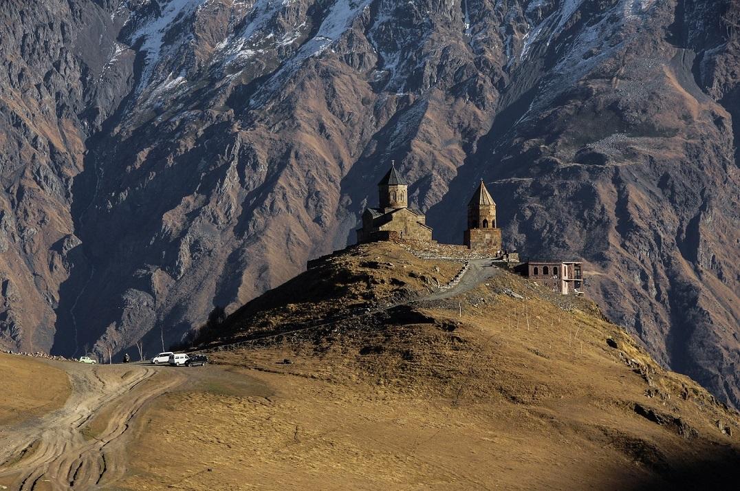 Gergety Trinity Church Mt Kazbek Georgia